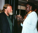 Jack Thompson and Nyitur, a Sudanese woman helped by Sanctuary
