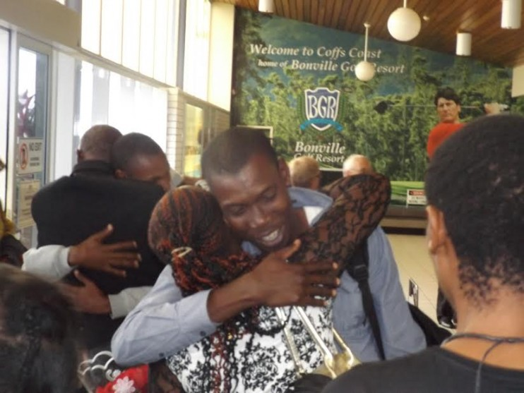 Congolese refugee family reunited