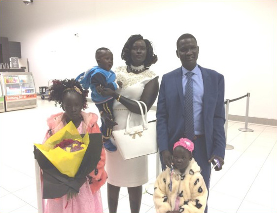 Sudanese family arrive in Adelaide thanks to Sanctuary.